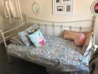 Beautiful Cream metal Bed