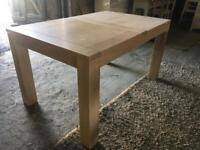 Brand new small oak kitchen dining table