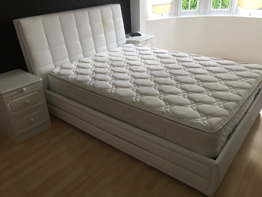 OTTOMAN KING SIZE BED AND MATTRESS