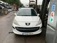 2008 Peugeot 207 DT 8v Van 1.4 Diesel White BREAKING FOR SPARES