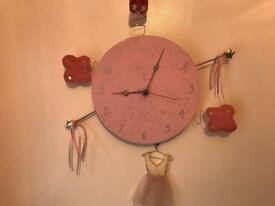 Bespoke girls wall clock