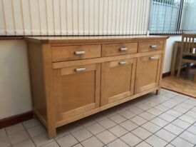 Birch sideboard unit.