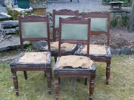 A SELECTION OF DINING CHAIRS FOR RESTORATION
