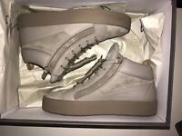 Giuseppe Mid Tops Grey Suede Size 7.5