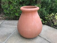TERRACOTTA VASE PLANTER POT POTS 51 cm TALL Excellent Condition Gorgeous Item