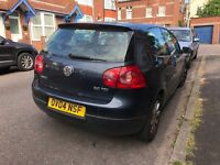 VW Golf GT TDI damaged bumper