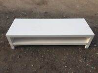 White Gloss Shelf Stand V.G.C. Free Delivey In Norwich,