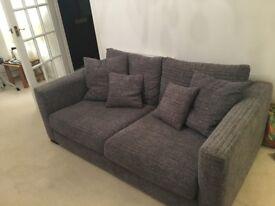 DFS Dillon 3 piece sofa suit + foot stool
