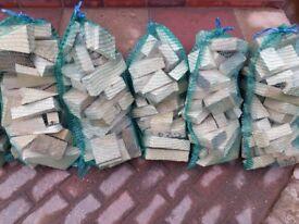 Sacks of dry wood (off cuts)