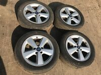 """Ford Focus / Mondeo / transit connect 16"""" alloy wheels - excellent tyres"""