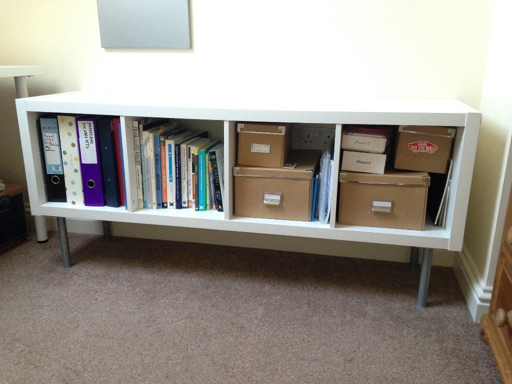 ikea kallax shelving unit bookcase white in diss norfolk gumtree. Black Bedroom Furniture Sets. Home Design Ideas