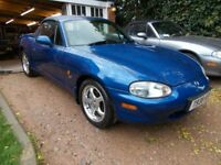 Mx5 mx-5 mx 5 Mk2 1999. Limited edition '10th Anniversary' Looks/drives great. Mohair. 6-speed. MOT.