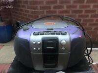 JMB purple stereo/cd player