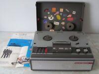 Vintage Telefunken reel tape recorder, used