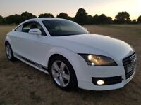 AUDI TT TDI HALF LEATHER WITH SUEDE 4 WHEEL DRIVE WHITE