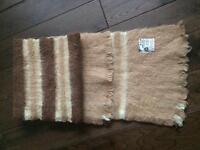 Men's scarf, wool/mohair
