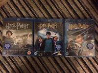 Harry Potter blu ray x 3 brand new