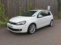 VW GOLF + 2.0 GT TDI + 2009 + 6 SPEED AMNUAL + 5 DR + IN WHITE