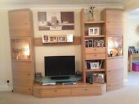 Solid Oak Hartmann Wall Unit and TV Stand from Housing Units