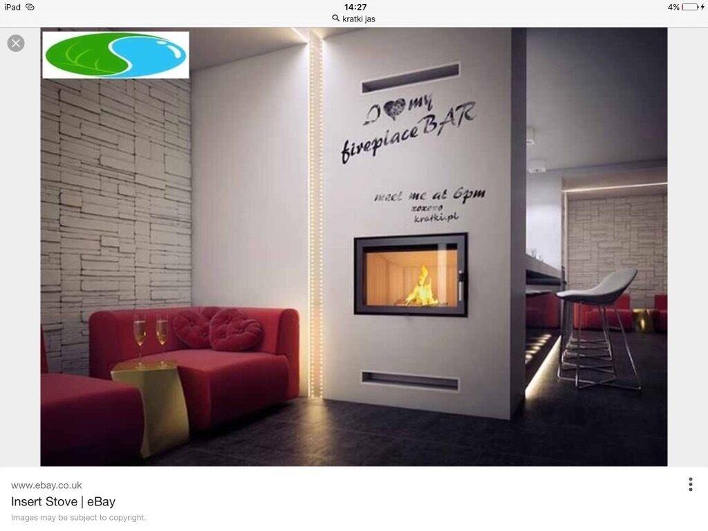 Inset stove fire wood burner cassette style brand new wood burning ...
