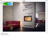 Inset stove fire wood burner cassette style brand new wood burning heater log burner