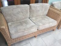 Rattan sofa and table