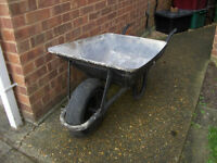 Metal Wheelbarrow with Pneumatic inflatable Wheel / Tyre #FREE LOCAL DELIVERY#
