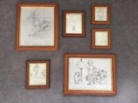 Winnie the Pooh prints pictures in frame nursery wall