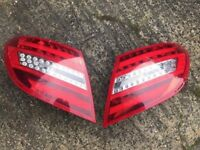 2 X Mercedes C63 C CLASS REAR TAIL LAMPS Xenon W204 LED LIGHTS AMG