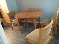 Substantial Dining Table (extending) & 4 Chairs