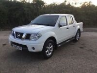 2009 NISSAN NAVARA ACENTA MODEL DCI DC SUPERB DRIVING 4x4 IN RARE WHITE REPLACED AXLE NEW NEW TURBO