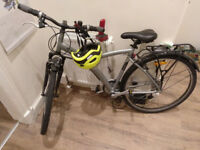 2 X grey Decathlon B'TWIN hybrid bikes (model: B'ORIGINAL 500) for sale