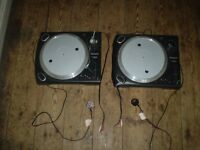 2 turntables Numark TT 1625 direct drive turntables spares or repair
