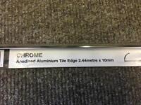 Chrome Tile Trim/edge 10mm rounded BRAND NEW