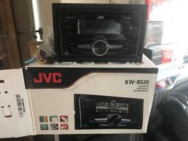 Brand new JVc KW R520 double din stereo