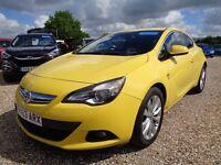 VAUXHALL ASTRA GTC 2.0 CDTi 16v SRi 3dr (start/stop) Auto (yellow) 2013