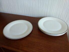 "Royal Doulton Platinum Concord 11"" dinner plates x6"