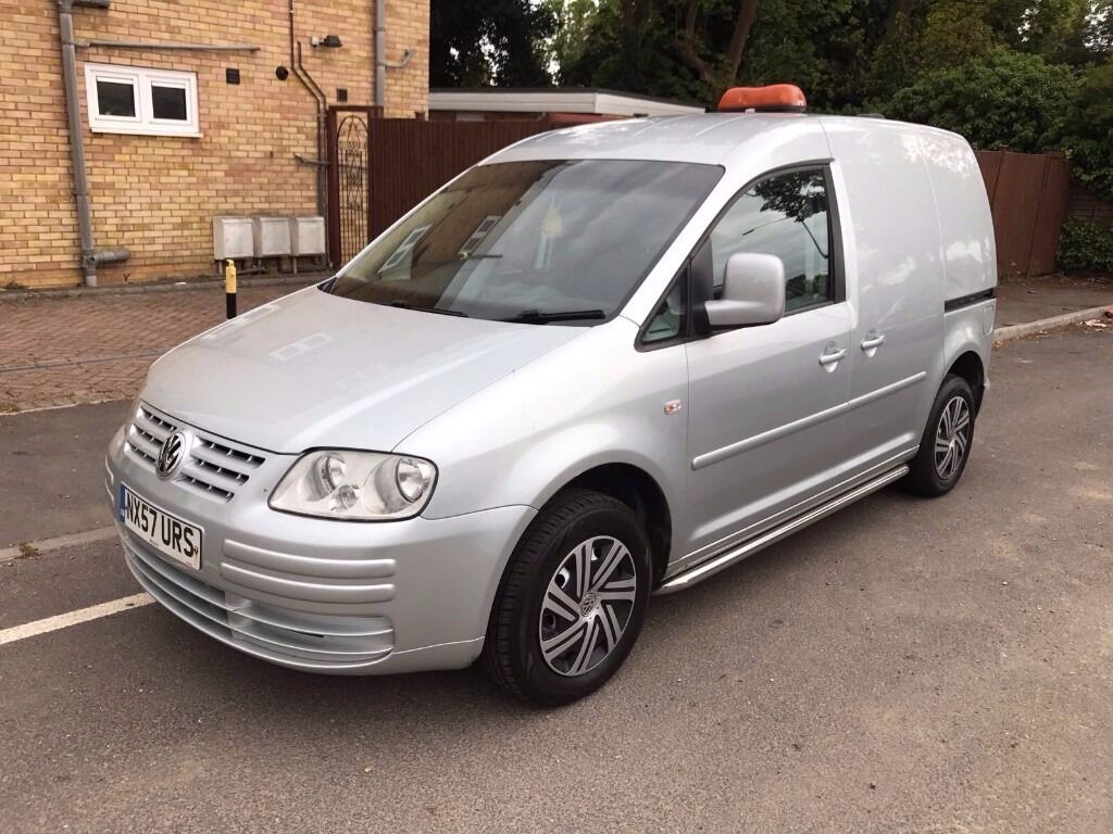 2007 57 vw caddy 1 9 tdi diesel metallic silver side bars sunroof long mot drives good. Black Bedroom Furniture Sets. Home Design Ideas