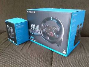 Logitech G29 with Stick + games ps4/pc/ps3 (one month old) Greenfield Park Fairfield Area Preview
