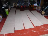 4 x Carpet Off-Cuts - Long/thin/beige - Loughborough (happy to separate - £2 each)