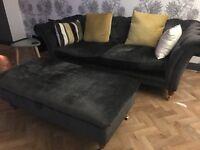 Laura Ashley sofa & footstool