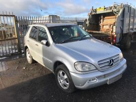 Mercedes ml 270 Jeep spares or repairs parts
