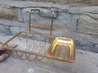 Vintage Antique Retro Brass Gold Metal Bath Soap Dish Holder Rack Caddy French Traditional Bathroom