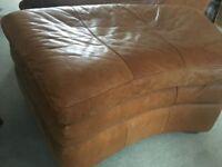Leather Sofa Footrest - Footstool