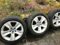 "BMW 5 Series F10 F11 17"" alloy wheels with TPMS, Dunlop Winter Sport 3D runflats"