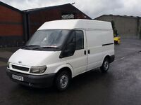 55 REG FORD TRANSIT SWB SEMI HI ONE YEAR M.O.T £1750 NO V.A.T