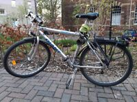 Mountain bike | adults or children | lock, object holder, straps, mudguards, and lights