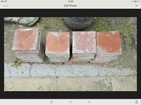 "6"" red quarry tiles, 47 in total"