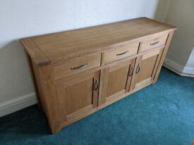 Next Cambridge Sideboard, Solid Oak