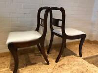 Antique vintage mahogany 6 chairs, newly restored.
